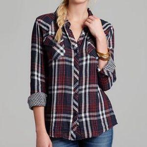 Rails Kendra Gauze Plaid Flannel Button Down Shirt